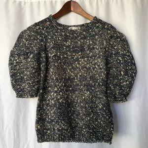 VINTAGE | 80's Pouf sleeve tweed sweater